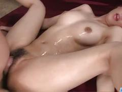 Jizz on pussy for curvy ass,rei, after serious hardcore