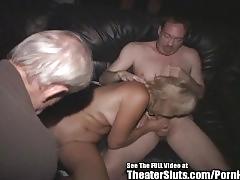 Wild anal milf jackie theater gangbang!
