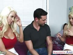 Gorgeous blondes carmen caliente and courtney taylor fuck