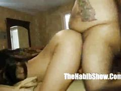 hardcore, thehabibshow.com, landing strip, huge tits, pov, brunette, orgasm, young, perky nipples, dick sucking, bbc, froggystyle