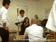 Nao yoshizaki horny asian teacher gets a fucking in class
