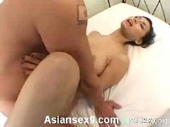 Maria ozawa naughty asian slut enjoys getting two cocks to suck at once