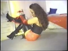 Rubber heels fetish girl nanni