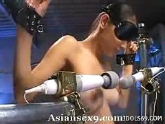 Maria ozawa nasty asian doll  gets loaded up with lots of dildos