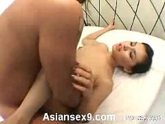 Maria ozawa naughty asian slut enjoys getting two cocks to suck at once