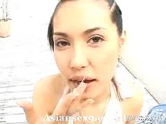 Maria ozawa naughty asian slut gives her friend an ass licking