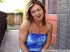 Homegrownbigcock's amateur milf takes big dick & 2 cumshots