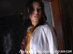 Maria ozawa naughty japanese slut is playing with her hairy pussy