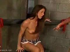 Hairy pussy spanking