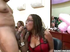 Girls suckin dick at the barber shop