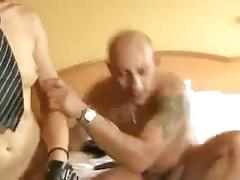 brunette, anal, threesome, brunettes, blowjob, groupsex, group, ffm, 3some, heels