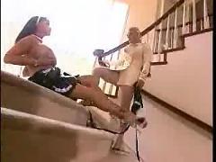 Lesbian nylons and huge tits