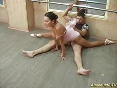Nasty flexible gymnast gets hard pussy fucked sex good