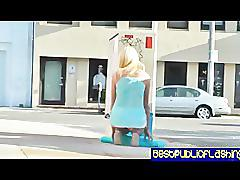 Addison o'riley - leggy blonde public flashing slut pt. 1