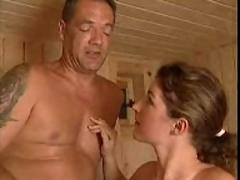 Huge breasted german babe sauna sexed