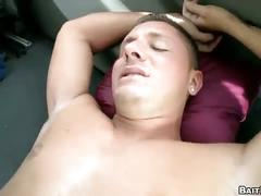 Straight stud agrees for hardcore anal fucking in public
