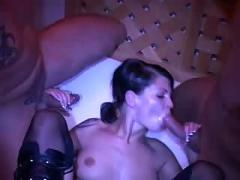 Hot homemade threesome with double penetration