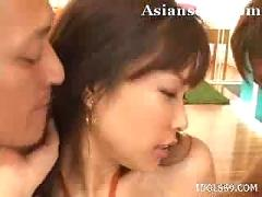 Yua aida asian slut in orange undies gives good head
