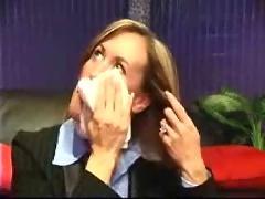Amateur business milf blowjob facial cum swallow casting
