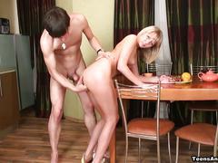Mash's table top anal fuck