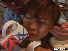 young, japanese, uncensored, brunette, mouth fuck, javhq, ami hyuuga
