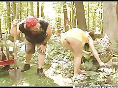 Banging the gardener in the backyard