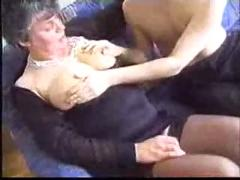 Young boy seduces granny to have sex