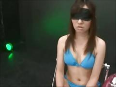 Tied asian fucked and creampied