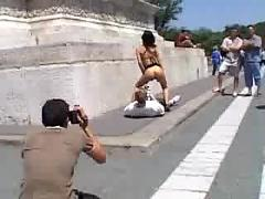 Angelina crow public sex in budapest