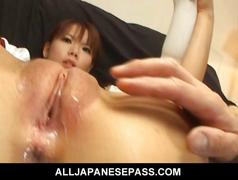 Himena ebihara lovely asian babe gets her hole full...