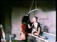 Mn - 70's bdsm orgy - bitch, slave and nyloned mistress