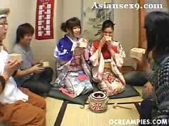 Asian yuki tsukamoto rin satomi pussy big tits kimono