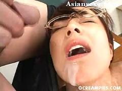 Asian mai satsuki school teacher gets massive facials