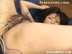 Asian kurumi katase penetrated hard by dildo