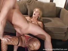 Insane anal creampie swinger milf