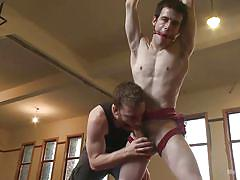 deepthroat, fetish, tied up, big dick, muscled, gay, gay domination, gay threesome, rope bondage, gay hand job, men on edge, kink men, brian strowkes