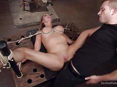 torture, domination, vibrator, tied up, pierced, blonde milf, big breasts, device bondage, rope bondage, sex and submission, kink, abbey brooks, bill bailey