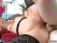 Two blondes with big asses get ass drilled