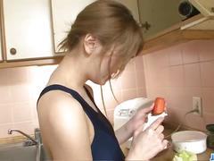 Yuu mahiru is a cum eating dirty japanese chick