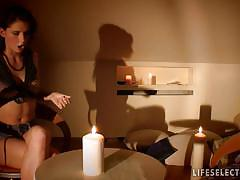 Naughty seance with young teens on life selector.