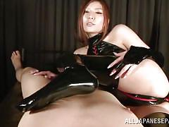 milf, handjob, femdom, bdsm, hairy, big tits, japanese, blowjob, cosplay, latex costume, j cos play, all japanese pass, yuna shiina