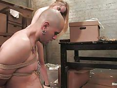whip, femdom, spanking, ass licking, tied, big boobs, sex slave, blonde milf, nipple clamps, men in pain, kink men, aiden starr, sz x