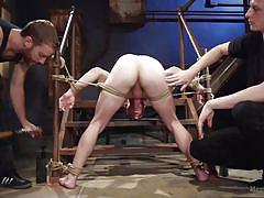 Tied dude gets his ass drilled