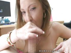 Lindsay lovehands close up blowjob