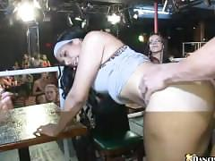 Thick black chick getting fucked by stripper