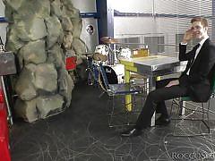 Blonde babe gets cocks to suck @ rocco's abbondanza #04