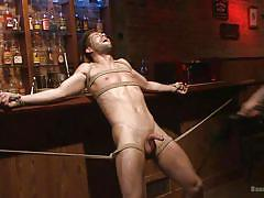 sadism, tied up, sex slave, gay sex, gay handjob, suspended, gay anal, gag, rope bondage, bound gods, kink men, kyle kash, trenton ducati