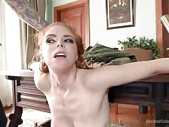 milf, torture, redhead, deepthroat, domination, fetish, tied up, nipple clamps, ball gagged, sex and submission, kink, penny pax, tommy pistol