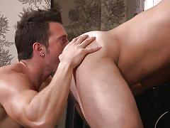 hotel, big cock, rimming, tattooed, muscled, gay sex, gay anal, gay, drill my hole, men.com, jimmy durano, derek atlas