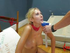 Anal milf suspended with chair in ass after nasty cum play